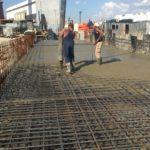 Залив бетона для фундамента